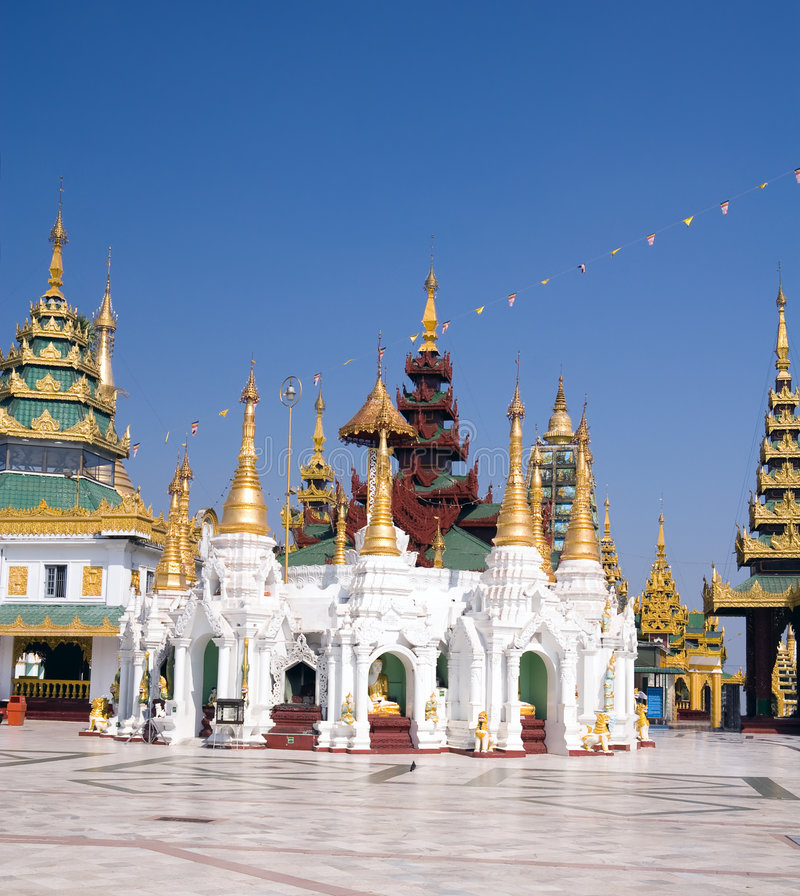 Download Pavilions Of Shwedagon Complex Stock Photo - Image: 8412214