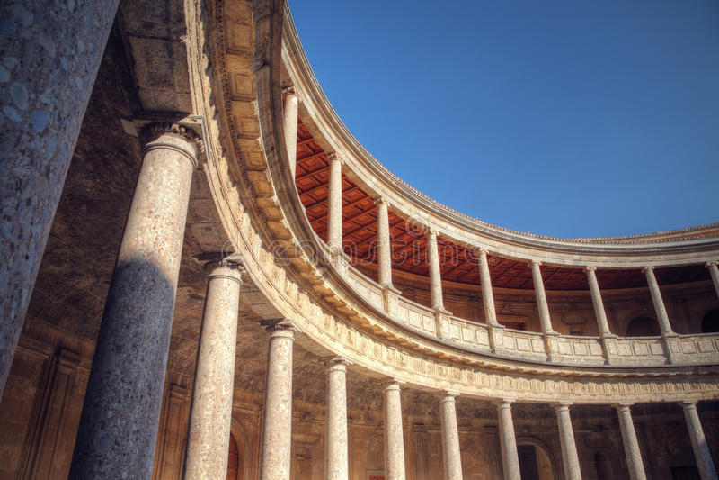 Paviljoen in het Alhambra paleis, Granada, Spanje stock afbeelding