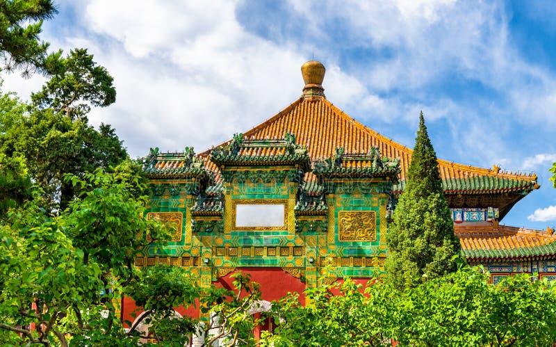 Paviljoen in het Beihai-park - Peking, China stock foto