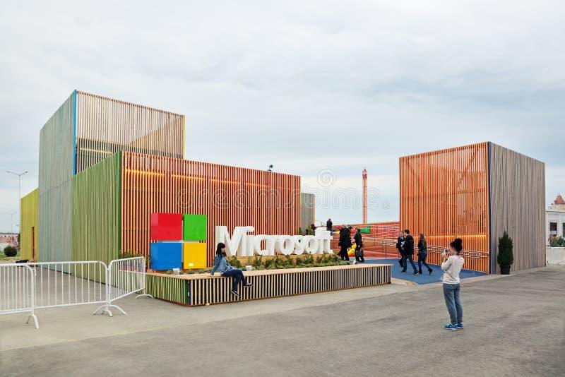 Paviljoen Microsoft stock afbeelding