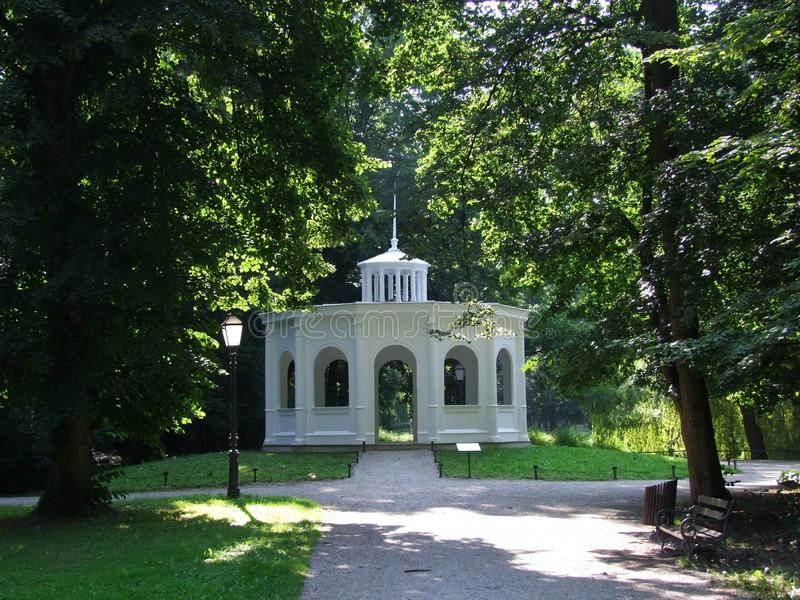 Paviljoen in park Maksimir Zagreb stock afbeelding