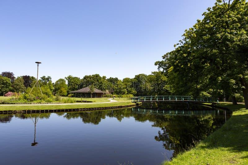 Paviljoen Sassennest no parque Rusthoff em Sassenheim foto de stock