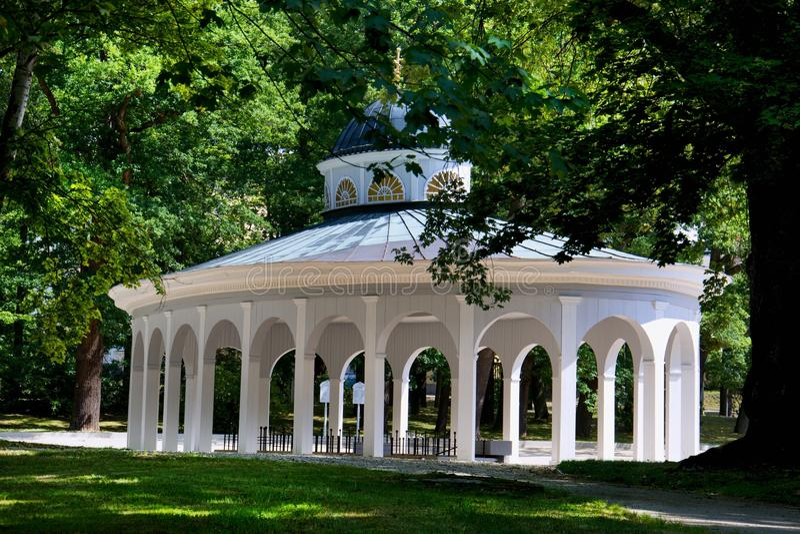 Paviljoen van mineraalwater Luisa - Frantiskovy Lazne royalty-vrije stock foto