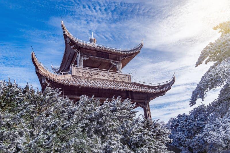 Paviljoen voor rust in het Nationale park van Huangshan royalty-vrije stock foto