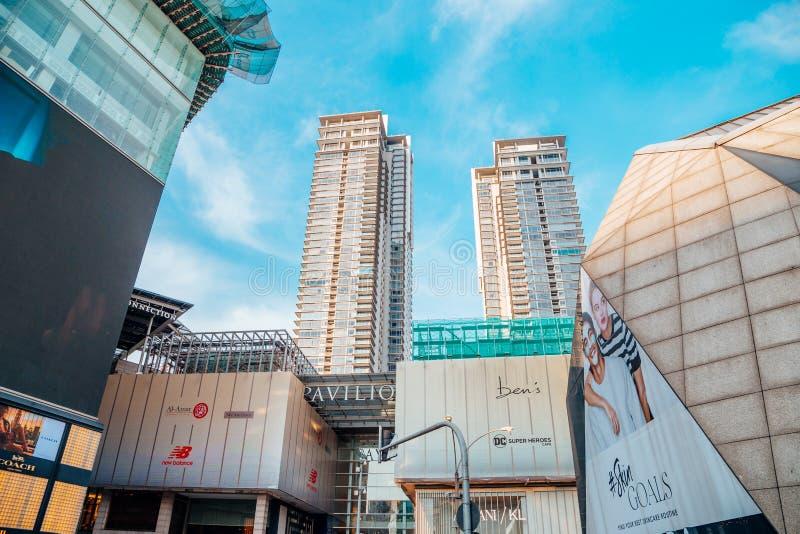 Paviljoenkl beroemd winkelcomplex in Kuala Lumpur, Maleisië stock foto