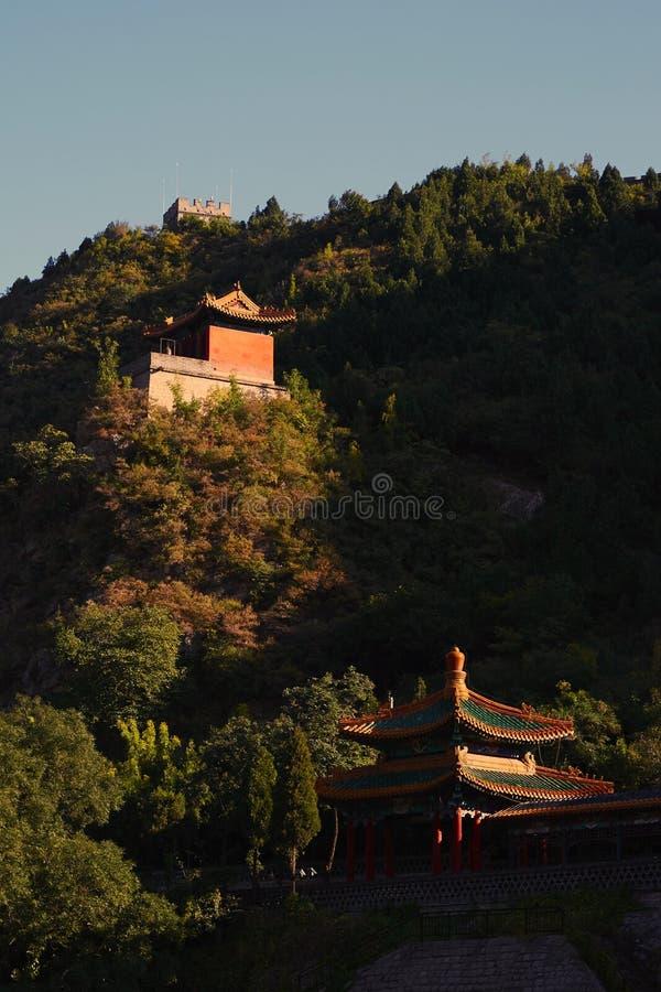 Paviljong av den stora väggen, Peking, Kina royaltyfria foton