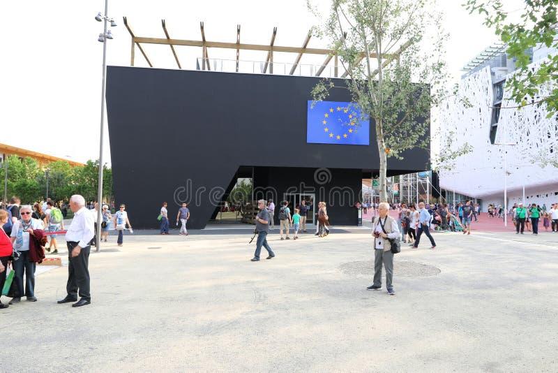 Paviljong Milan, milano för europeisk union expo 2015 royaltyfria bilder