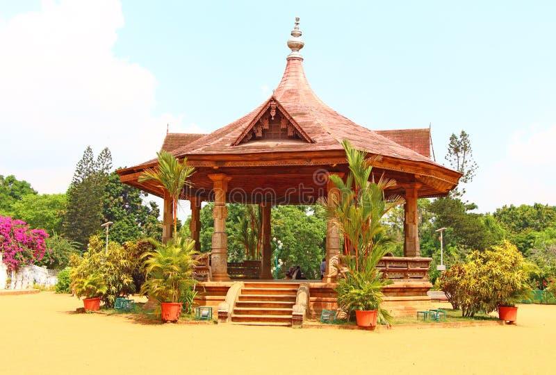 Paviljong på det Napier museet Thiruvananthapuram arkivbild