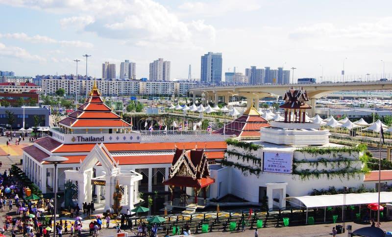 paviljong shanghai thailand för porslin expo2010 fotografering för bildbyråer