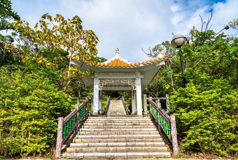Paviljongen i Changshou parkerar i Taipei, Taiwan royaltyfri fotografi