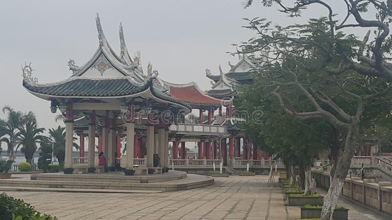 Paviljonger på Jimei jiageng parkerar Xiamen arkivbilder