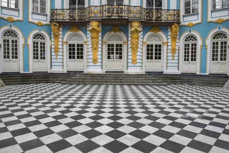 Paviljongeremitboning, Catherine Park, Tsarskoye Selo Pushkin, Ryssland arkivfoton