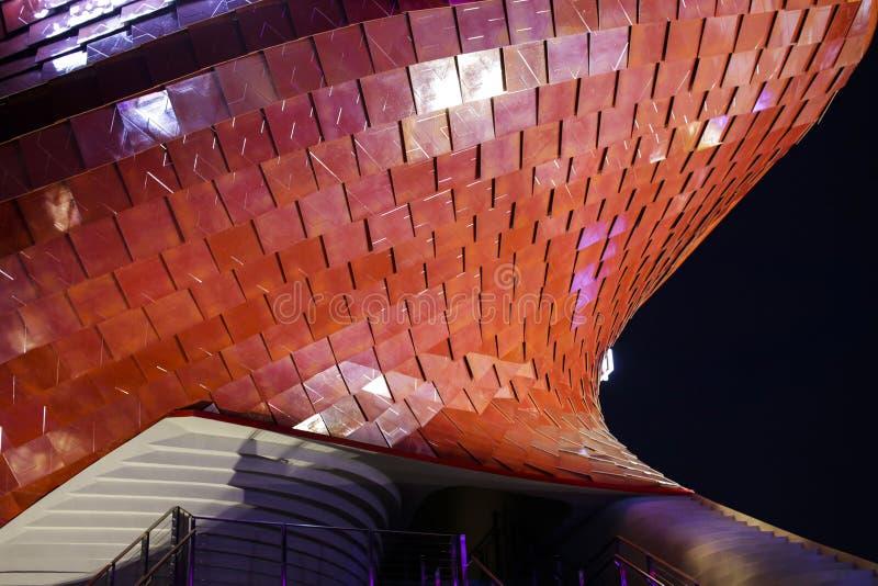 Pavillion 2015 d'EXPO particuliers et conception photographie stock