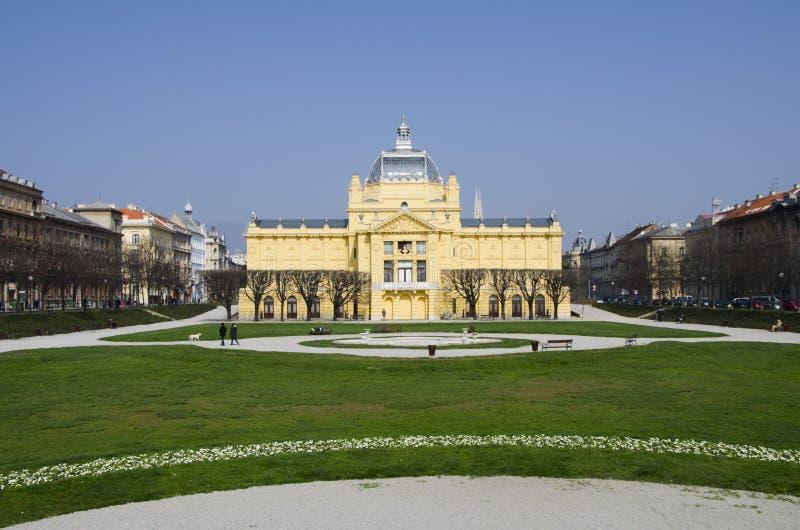 Pavillion del arte en Zagreb imágenes de archivo libres de regalías