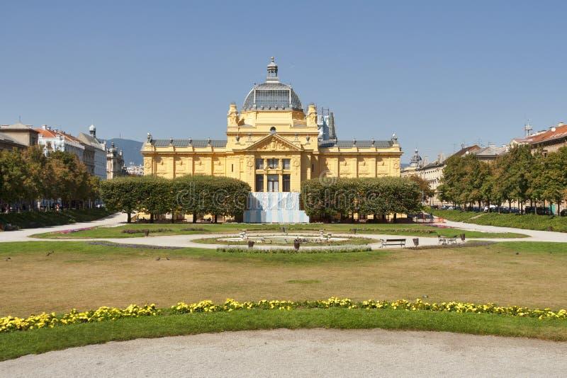 Pavillion del arte en Zagreb. Croacia imagen de archivo libre de regalías