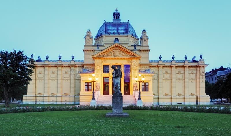 Pavillion del arte en Zagreb. Croacia imagen de archivo
