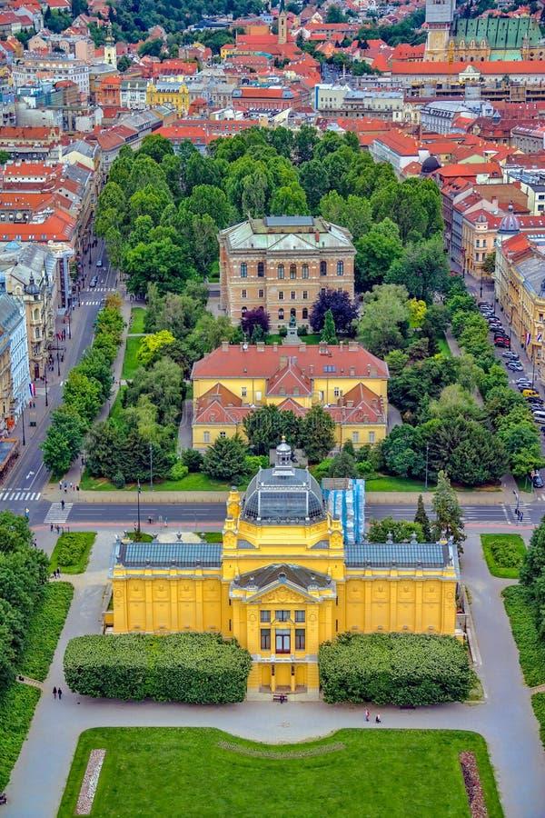 Pavillion del arte, Zagreb Croatia fotografía de archivo libre de regalías