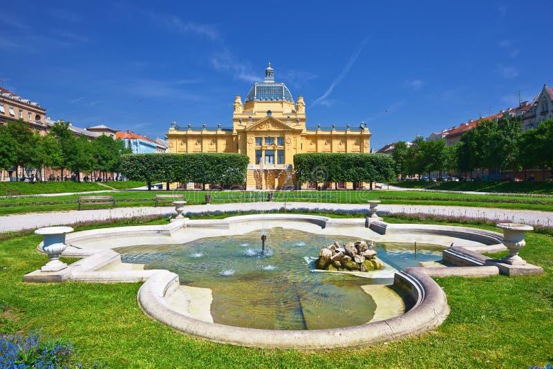 Pavillion di arte a Zagabria fotografie stock libere da diritti
