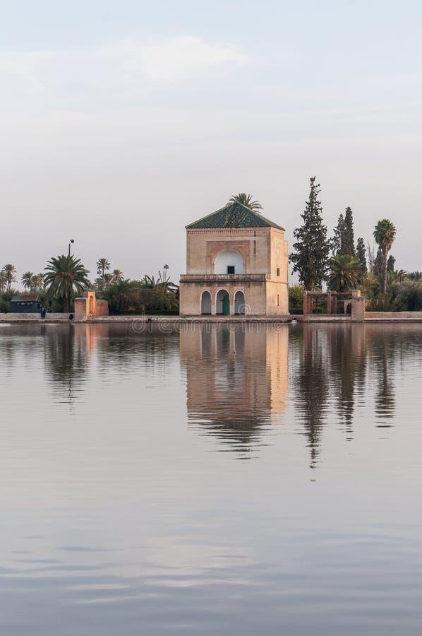 Download Pavillion On Menara Gardens At Marrakech, Morocco Stock Image - Image: 25559281