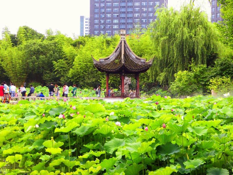 Pavillon à l'intérieur de jardin de Guyi photo libre de droits