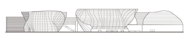 Pavillon 2010 de l'Expo-Espagne du monde de Changhaï illustration de vecteur