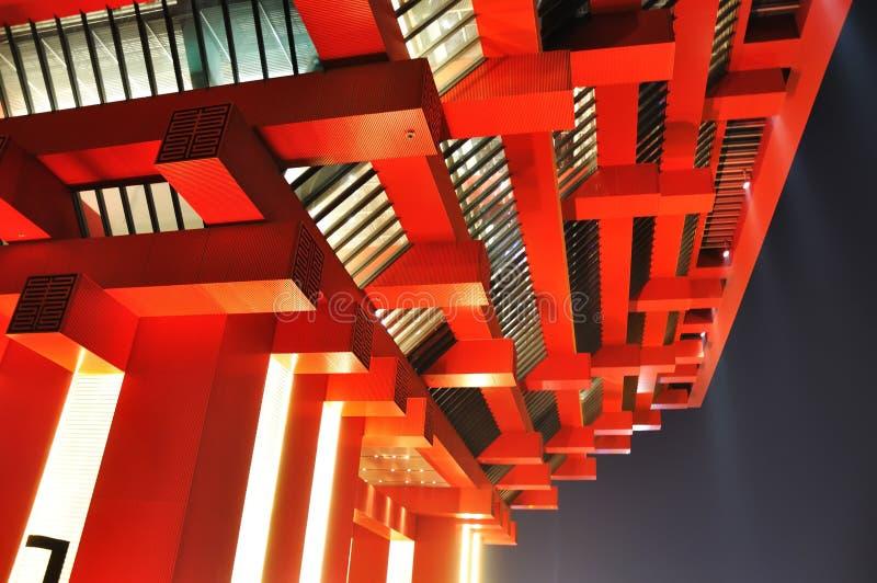 pavillon 2010 de la Chine d'expo de Changhaï images stock