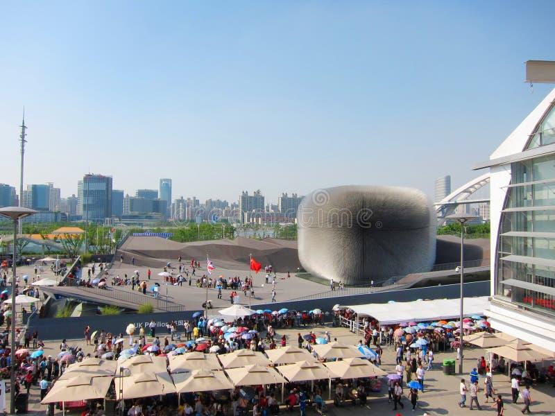 pavillon 2010 du Royaume-Uni d'expo de Changhaï image libre de droits
