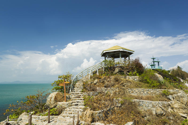 Pavillon auf XI Insel lizenzfreie stockfotografie