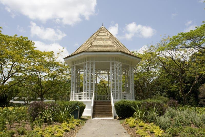 Pavillon aux jardins botaniques de Singapour photo libre de droits