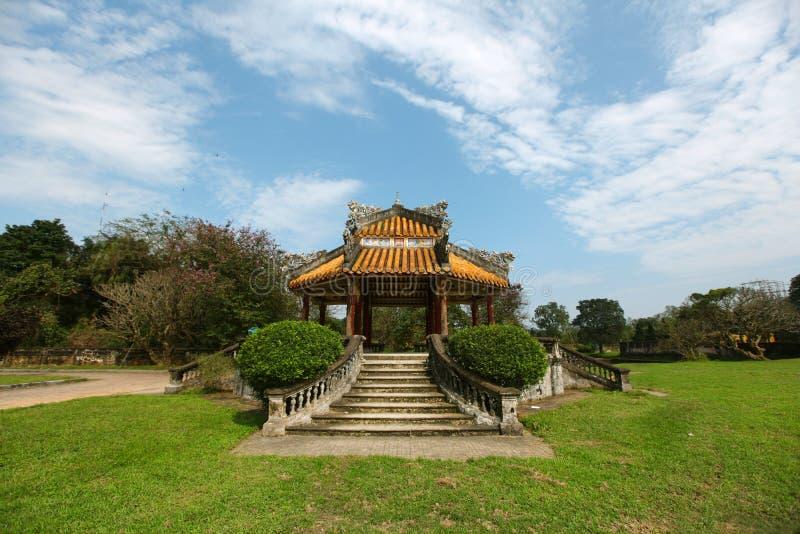Pavillon aux jardins chinois, place méditative photo stock