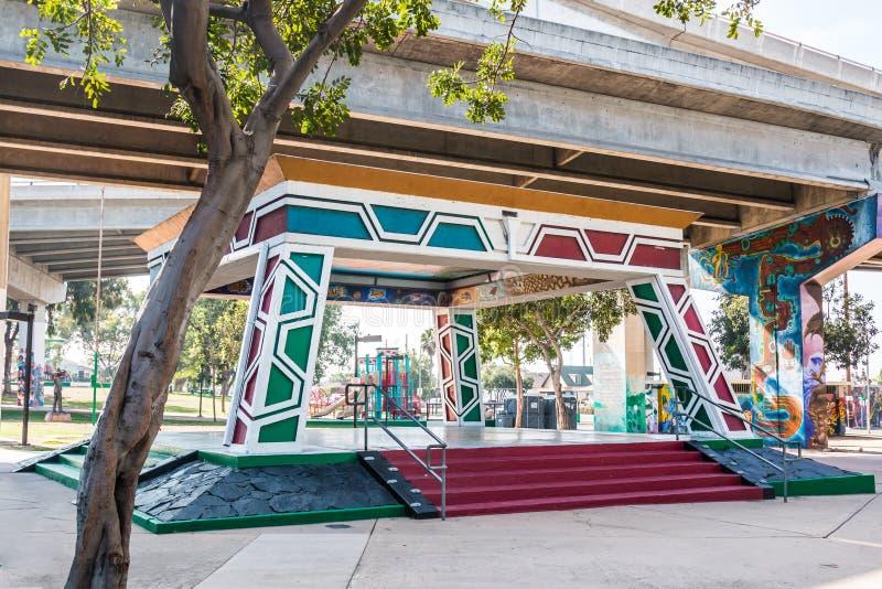 Pavillon chicano/Kiosko de parc à San Diego photos libres de droits