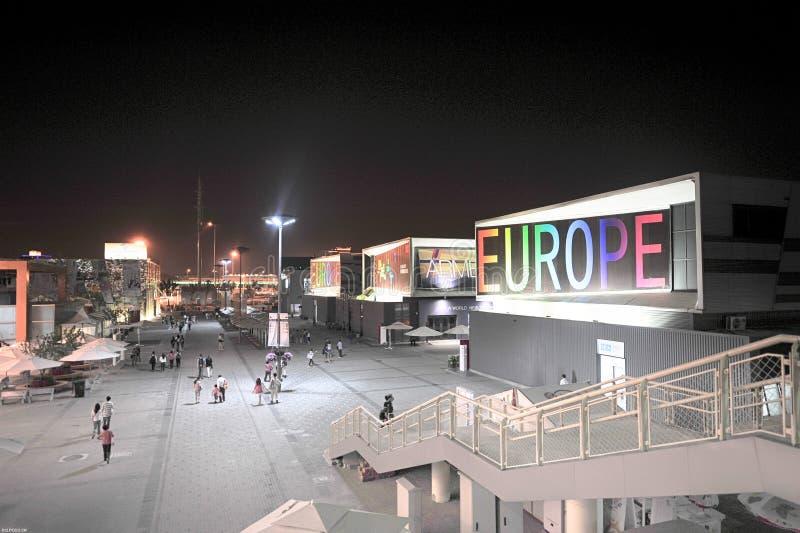 Pavillon chinois d'Union européenne de Changhaï 2010 d'expo du monde photographie stock libre de droits