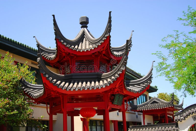 Pavillon chinois trois image libre de droits