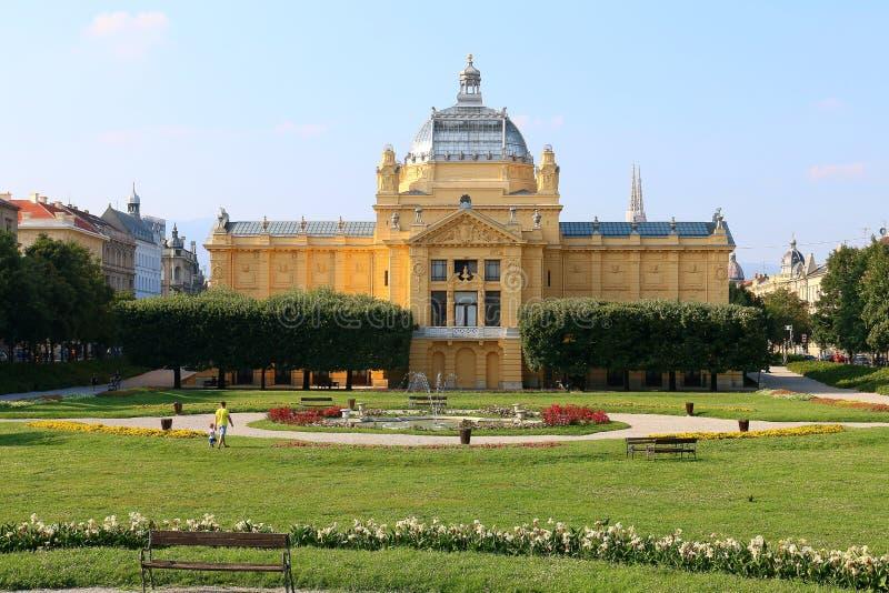 Pavillon d'art à Zagreb photo libre de droits