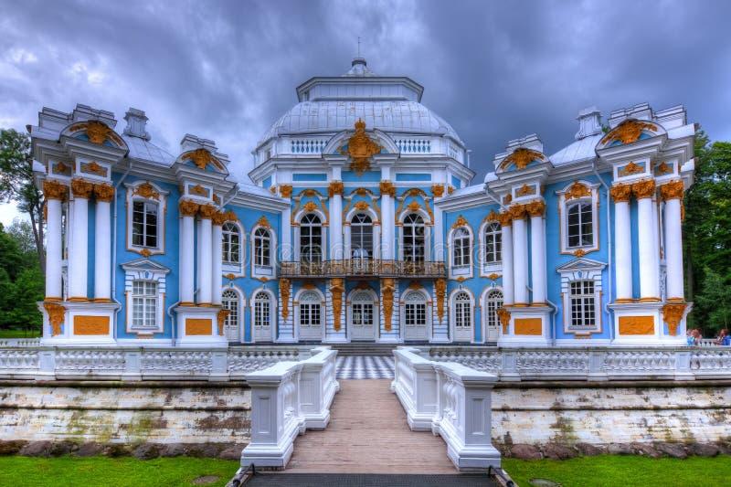 Pavillon d'ermitage dans Tsarskoe Selo, St Petersburg, Russie photographie stock