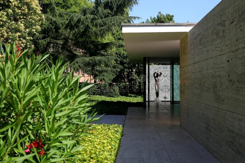 Pavillon de Barcelone, Espagne photo stock