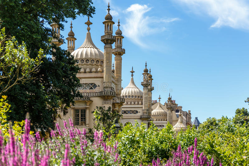 Pavillon de Brighton en été photos libres de droits