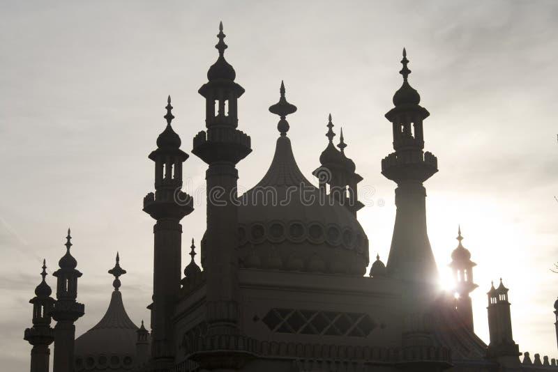 Pavillon de Brighton en silhouette image libre de droits