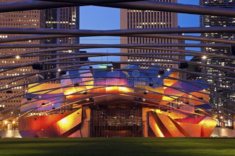 Pavillon de Jay Pritzker en stationnement de millénaire image libre de droits