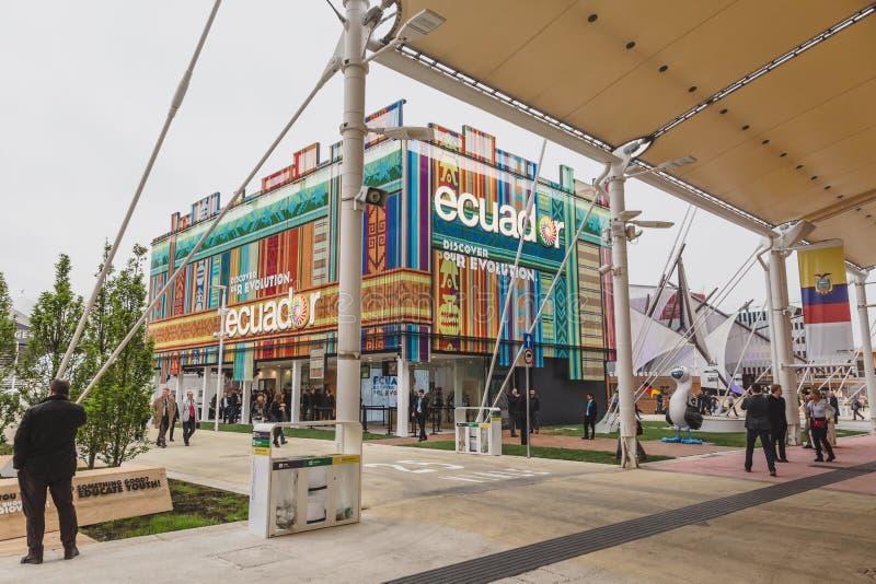 Pavillon de l'Equateur à l'expo 2015 à Milan, Italie images stock