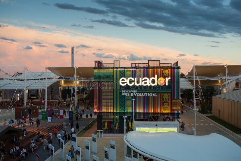 Pavillon de l'Equateur à l'expo 2015 photos libres de droits