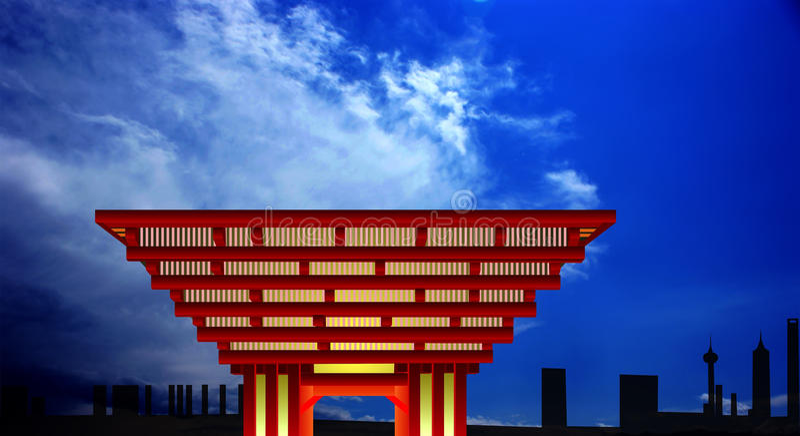 Pavillon de la Chine illustration libre de droits