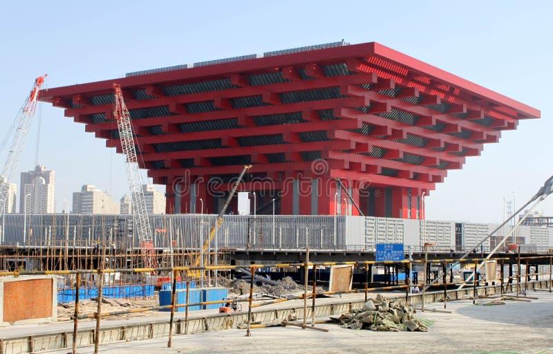 Pavillon de la Chine d'expo du monde image stock