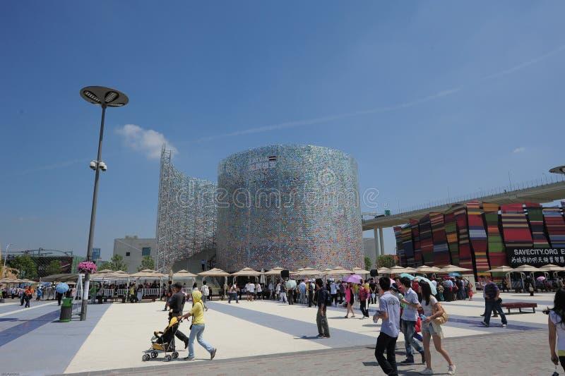 Pavillon 2010 de la Lettonie d'expo du monde de Changhaï de Chinois images stock