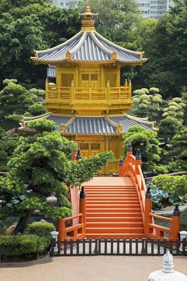 Pavillon de la perfection absolue en Nan Lian Garden, Hong Kong image libre de droits
