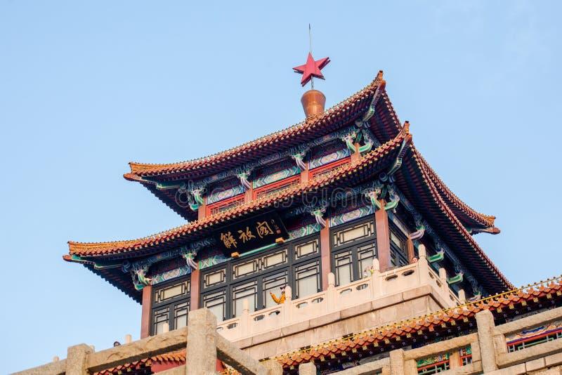 Pavillon de libération de Jinan photographie stock libre de droits
