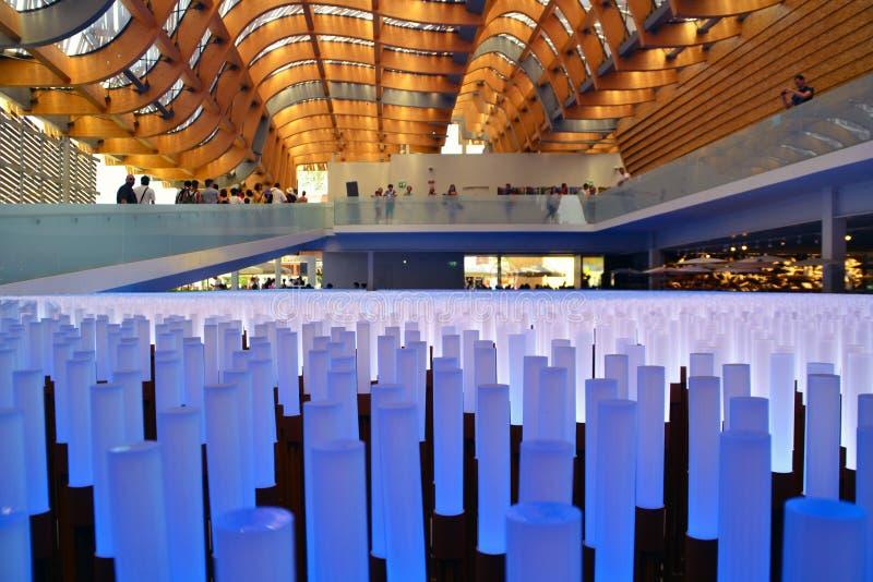 Pavillon 2015 de Milan Chine d'EXPO photo stock