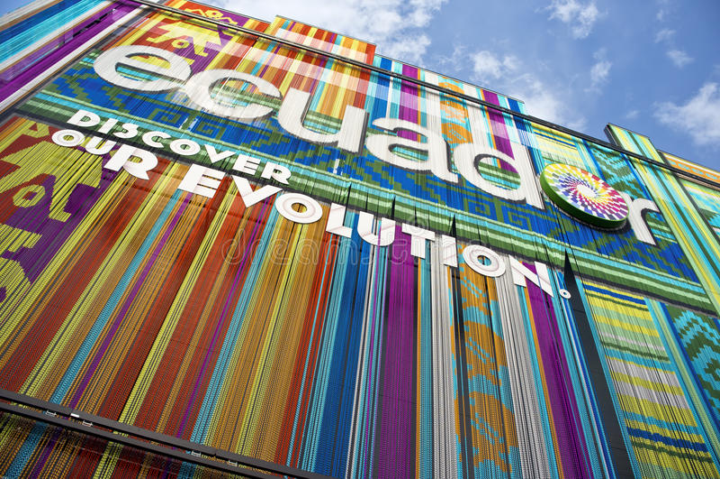 Pavillon 2015 de Milan Expo Equateur photos stock