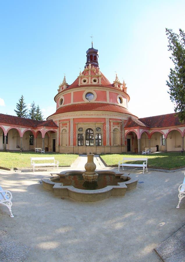 Pavillon de musique de Rondel, Jindrichuv Hradec photos libres de droits