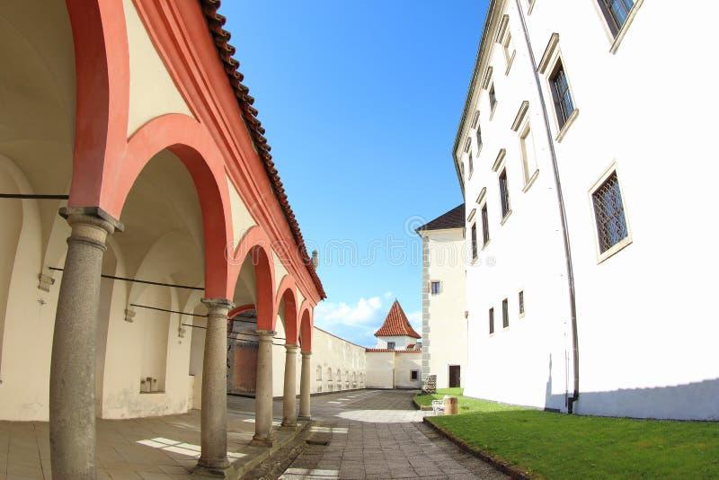 Pavillon de musique de Rondel, Jindrichuv Hradec photo stock